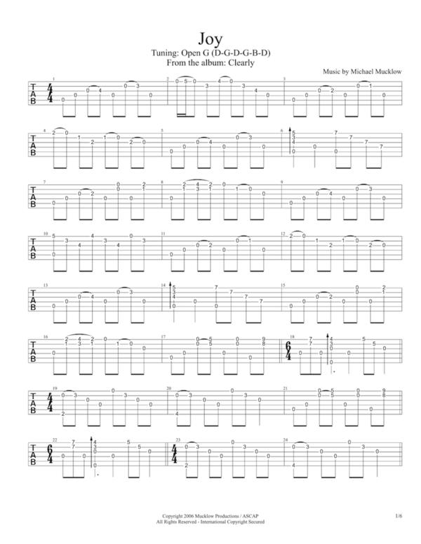 joy guitar tab